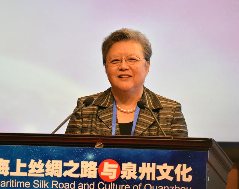 本會首席榮譽會長范徐麗泰在全體大會進行主旨演講,籲泉州借獨特文化優勢、拓海事仲裁業。