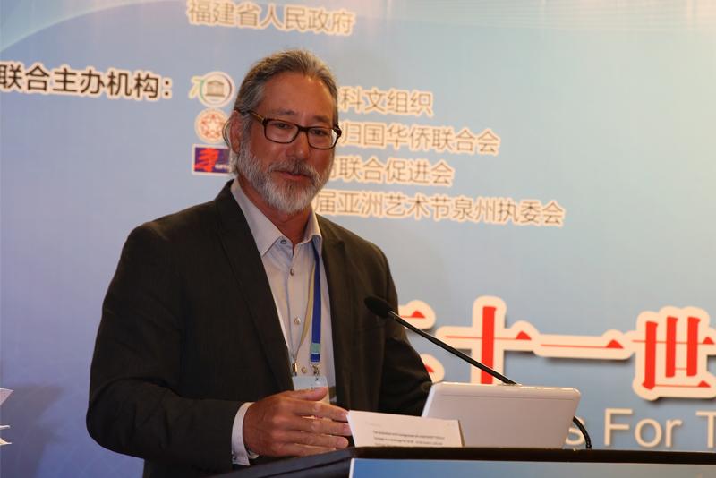 美國國家海洋和大氣管理局太平洋地區水下遺產項目協調員漢斯(Hans Van Tilburg),演講題目:《水下文化遺產保護和管理》。